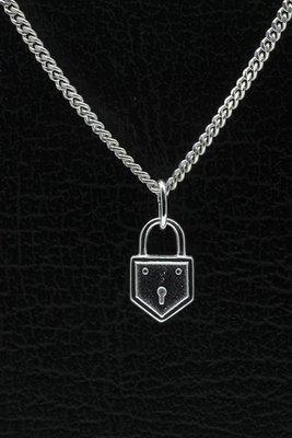 Zilveren Hangslotje ketting hanger