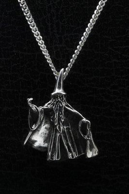 Zilveren Tovenaar ketting hanger