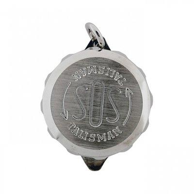 Zilveren SOS Talisman ketting hanger - zonder ketting