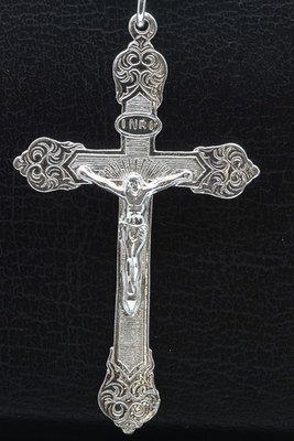 Zilveren Jezus aan kruis XL 2 ketting hanger