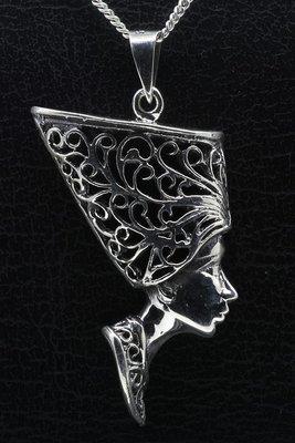 Zilveren Aphrodite opengewerkt ketting hanger