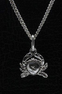 Zilveren Kroon ketting hanger - 2