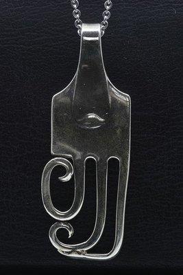 Zilveren Vork groot als ketting hanger besteksieraad