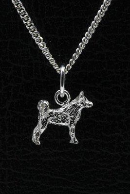 Zilveren Ainu ketting hanger - klein