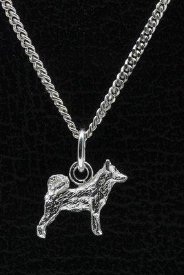 Zilveren Alaska malamute ketting hanger - klein