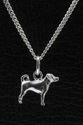 Zilveren Appenzeller sennenhond ketting hanger - klein