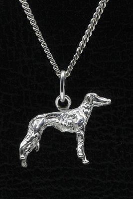 Zilveren Azawakh ketting hanger - klein