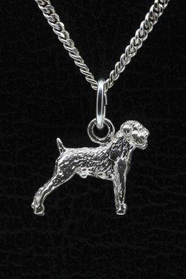 Zilveren Affenpinscher ketting hanger - klein