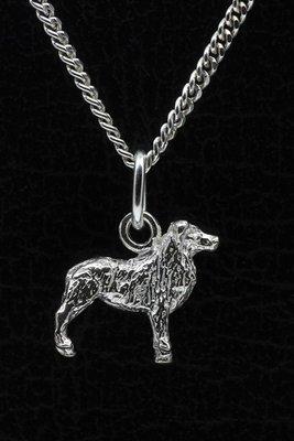 Zilveren Australische shepherd ketting hanger - klein