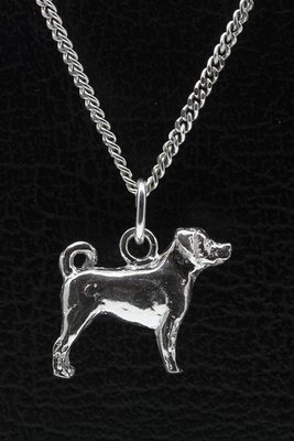 Zilveren Appenzeller sennenhond ketting hanger - groot