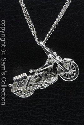 Zilveren Harley Liberator motor ketting hanger