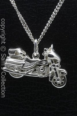 Zilveren Harley Electra glide motor ketting hanger