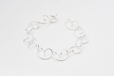 Zilveren design armband Bartine 19 cm