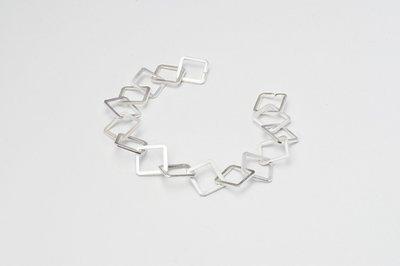 Zilveren design armband Adilah 19 cm