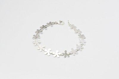 Zilveren design armband Adanya 19 cm