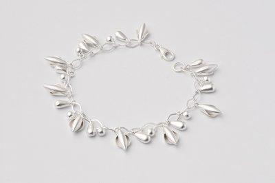 Zilveren design armband Aida 19 cm