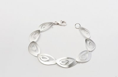 Zilveren design armband Bastiana 19 cm