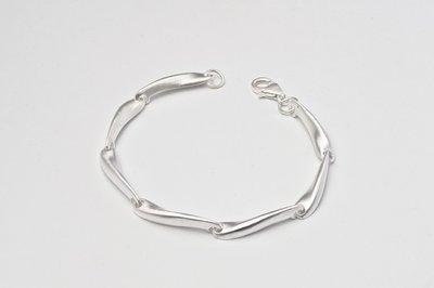 Zilveren design armband Basya 19 cm