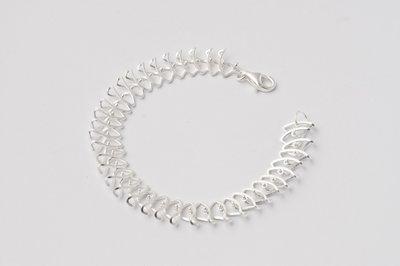 Zilveren design armband Bauwke 19 cm