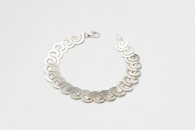 Zilveren design armband Basma 19 cm