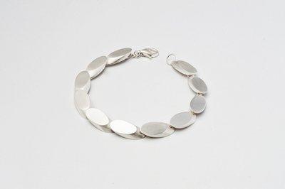 Zilveren design armband Caecilia 19 cm