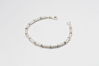 Zilveren design armband Beatriz 19 cm