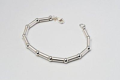 Zilveren design armband Beatalie 19 cm
