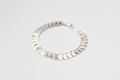 Zilveren design armband Caelesta 19 cm