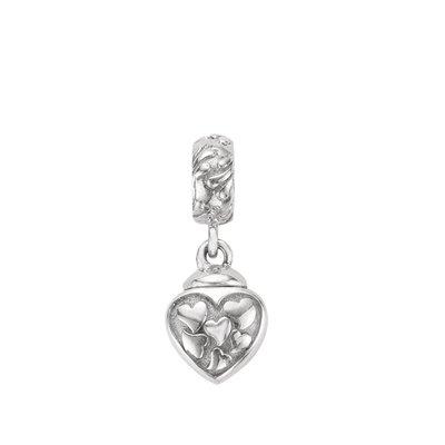 Zilveren Hartjes in hart As & Herdenk bead