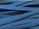 Leren veter ketting suede blauw - 100 cm