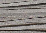 Leren veter ketting suede grijs - 100 cm