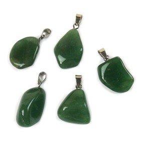 Groene kwarts edelsteen ketting hanger rvs