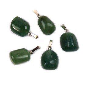 Jade - Nefriet edelsteen ketting hanger rvs