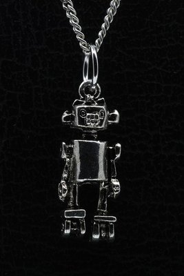 Tinnen Robot ketting hanger