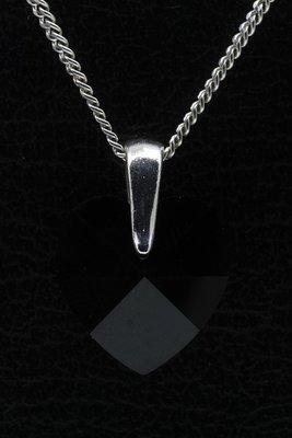 Swarovski kristal Heart black ketting hanger