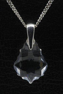 Swarovski kristal Drop helder ketting hanger - middel