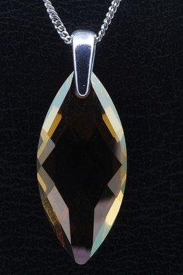 Swarovski kristal Navette copper ketting hanger - groot