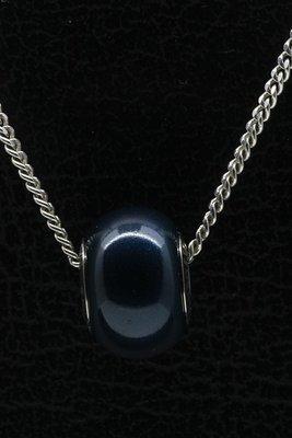 Swarovski Elements petrol pearl ketting hanger