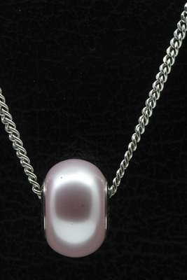 Swarovski Elements rosaline pearl ketting hanger