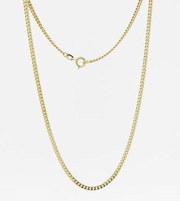 Gouden Gourmet ketting 2. fijn - dikte 1,1 mm - 42/45 cm