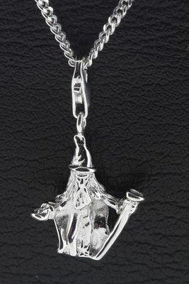 Zilveren Tovenaar Magiër hanger en/of bedel