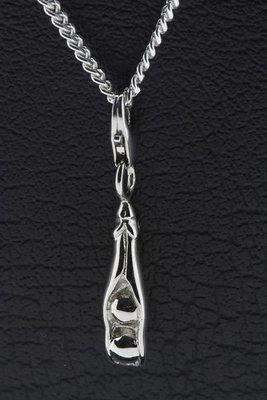 Zilveren Peul met erwten hanger en/of bedel