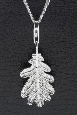 Zilveren Eikenblad hanger en/of bedel