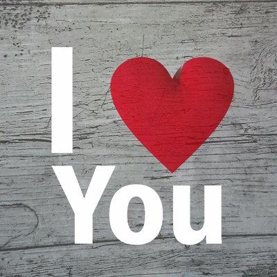 """Wenskaart """"I Love You"""""""