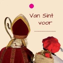 """Wenskaart """"Van Sint voor ....."""""""