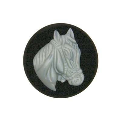"MY iMenso M.o.P. ""horse"" 33mm ""onyx"" insignia - uitlopend"