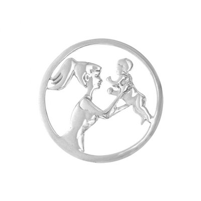 MY iMenso 925/rhod-plated mother&child cover insignia 33mm