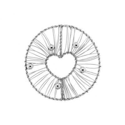 "MY iMenso ""wire heart"" 33mm fantasy insignia (925/rhod-plated) - uitlopend"