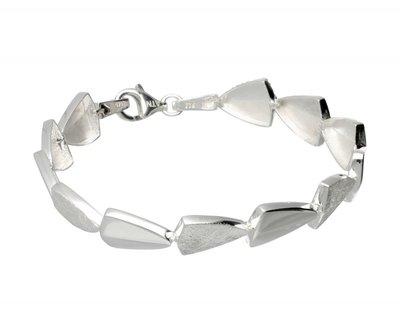 Zilveren design armband Arrow mat-glans 19 cm