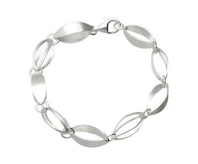 Zilveren design armband Open mind mat-glans 19 cm